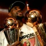 Lebron James y sus anillos de campeón de la NBA